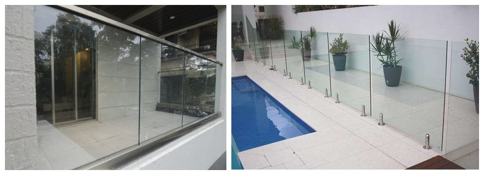 Frameless glass railing system-MORN
