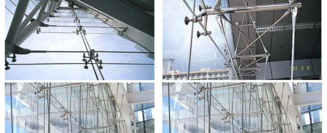 point supported glass curtain wall morn bm-glass spider