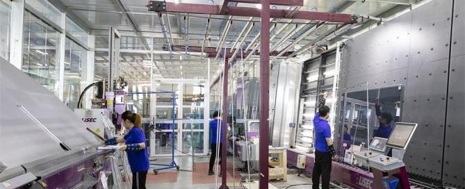 insulated glass production-LISEC IGU line
